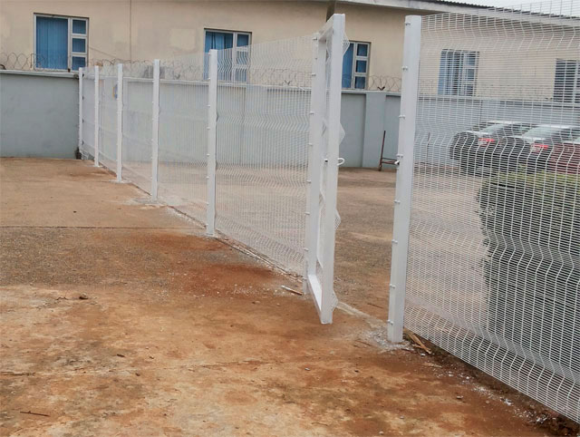 Installation of white fence wires in Lagos by Bisi-Best Nigeria Limited